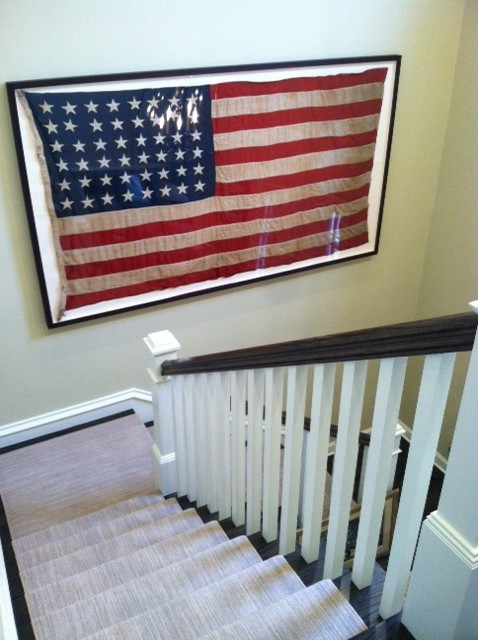 american flag in interior design
