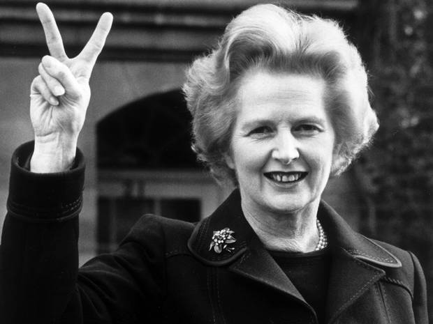 thatcher+v-sign